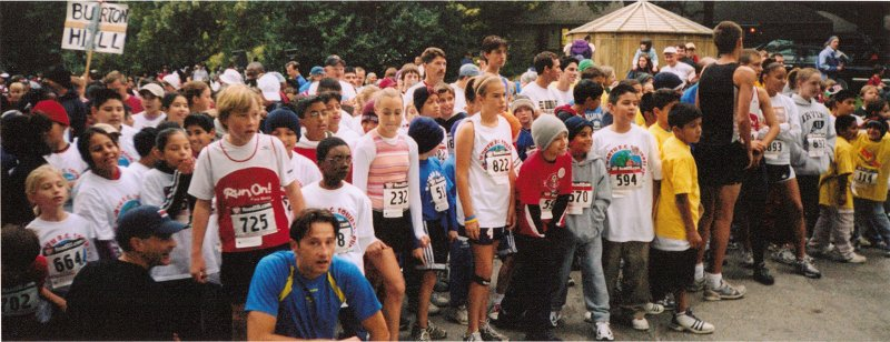 Kids participating in Run like a Cheetah